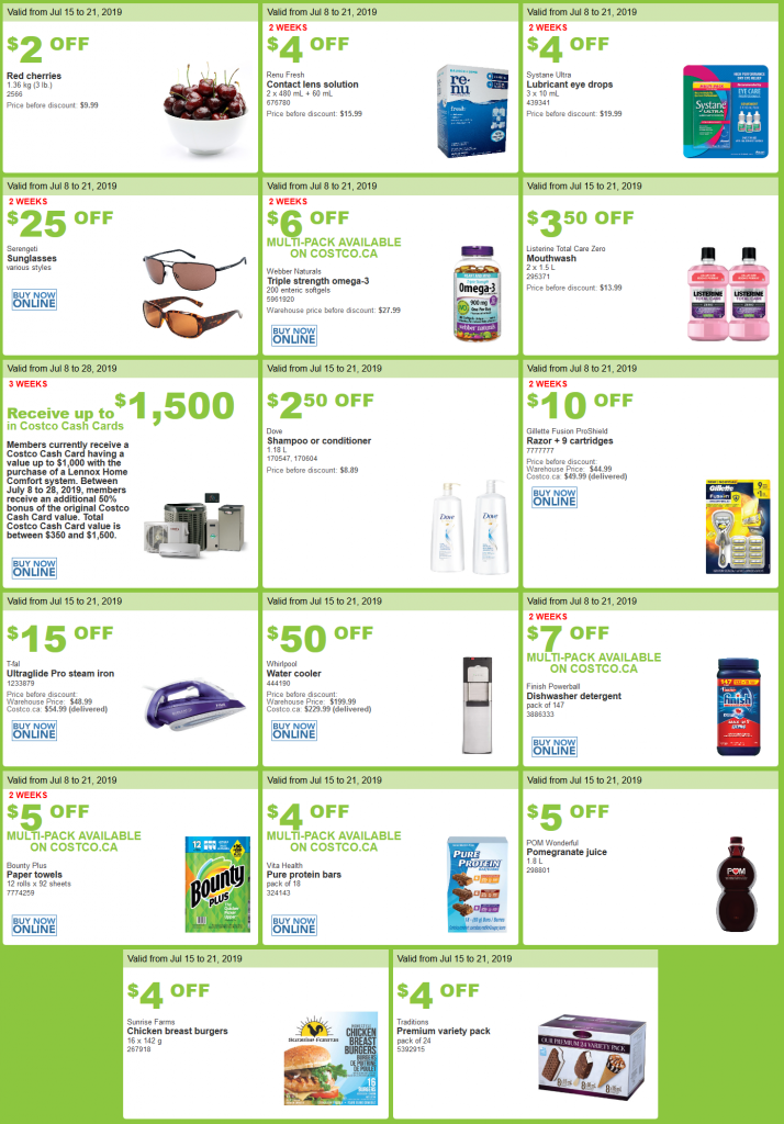 Costco Flyer sales July 15 - 21 2019
