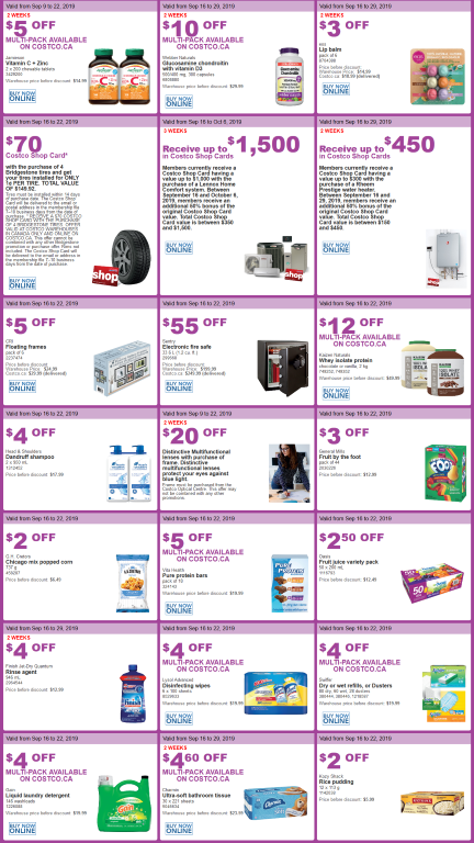 Costco Flyer sales sept 16th - 22nd 2019