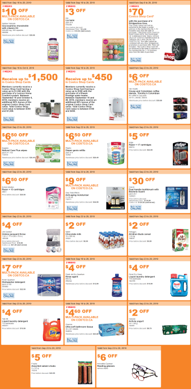 Costco Flyer sales Sept. 23rd - 29th 2019
