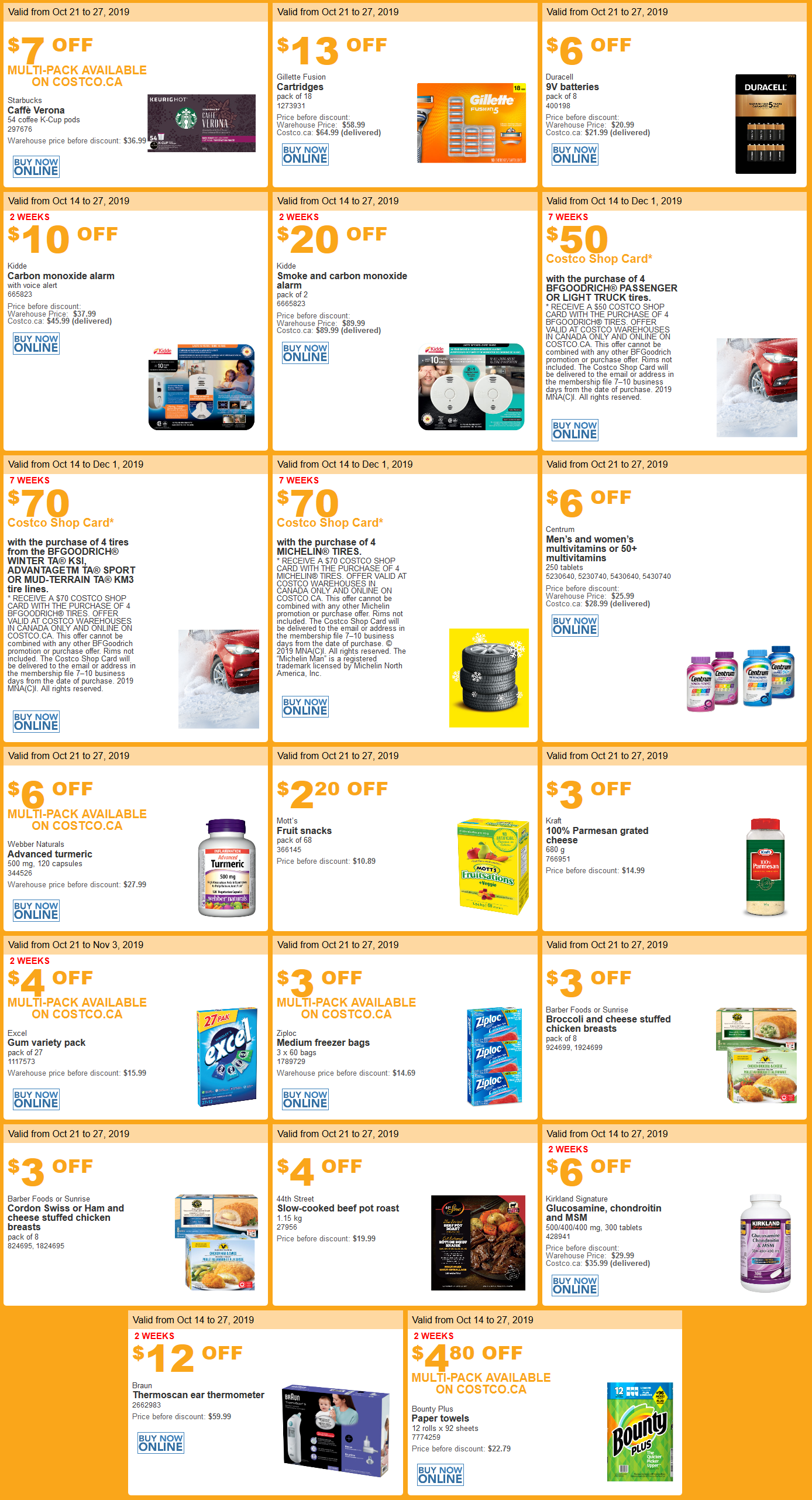 Costco Flyer sales Oct 21st - 27th 2019