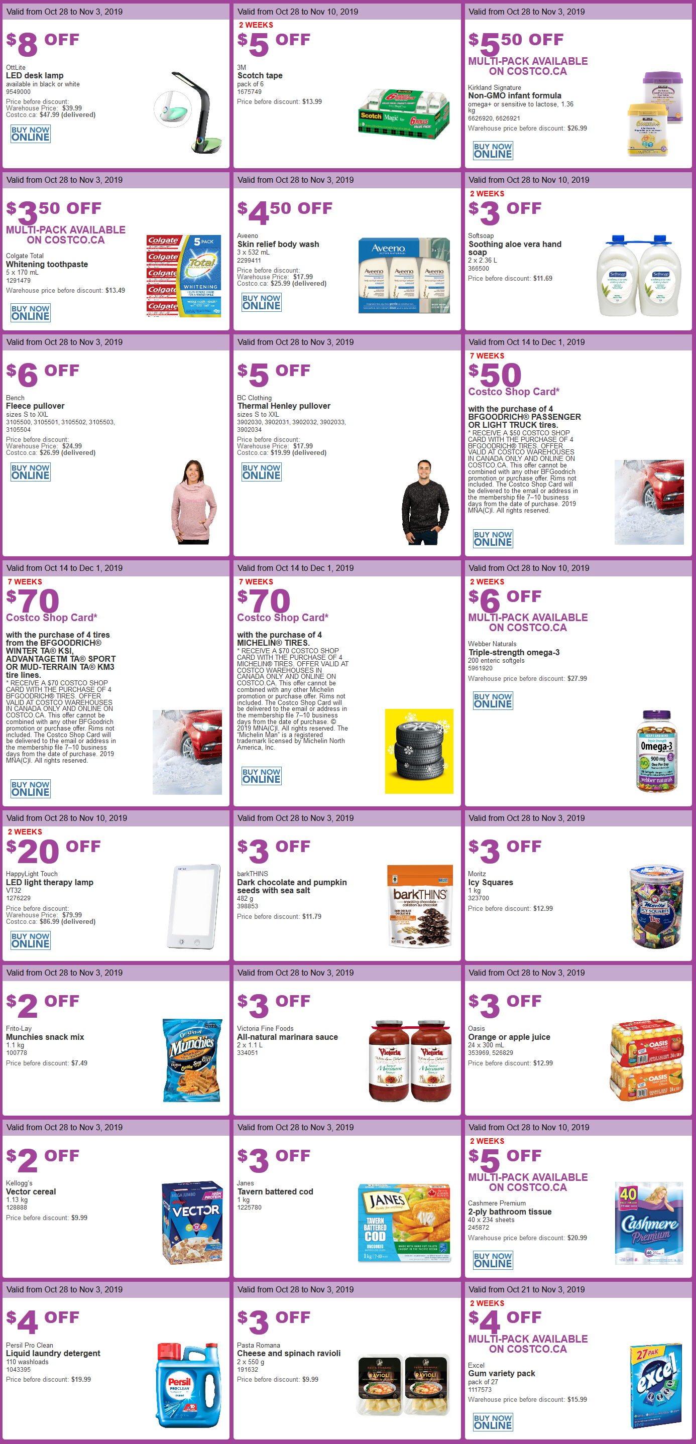 Costco Flyer Sales Oct. 28th - Nov. 3rd