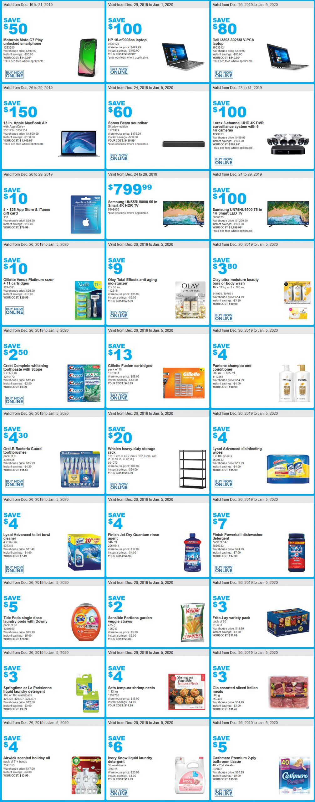 Costco Boxing Day Flyer Sales