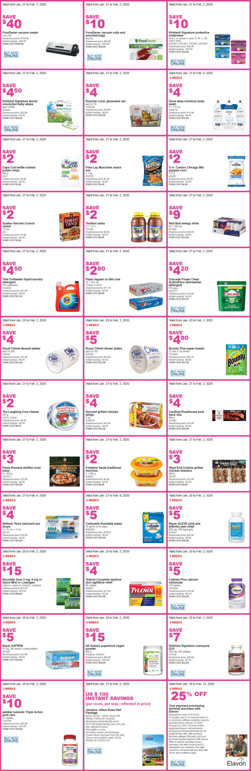 Costco Flyer Sales 1/27/2020