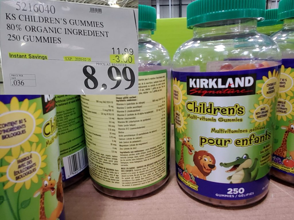 kirkland childrens vitamins