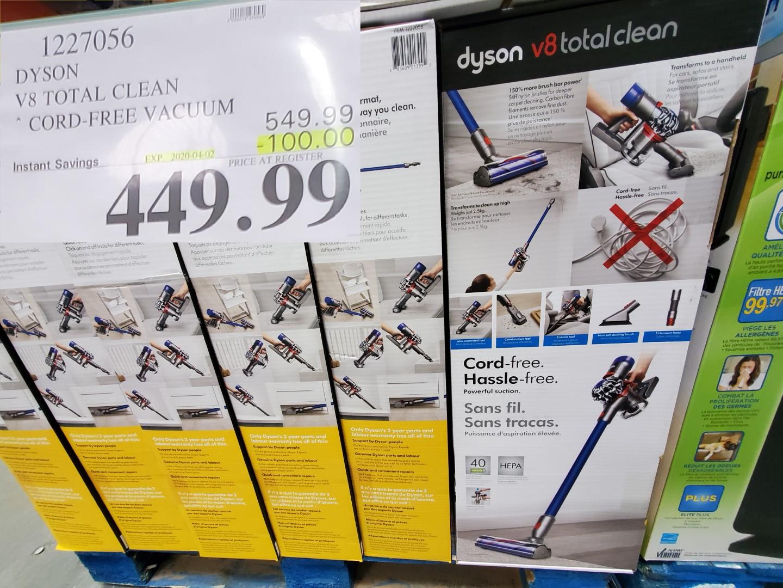 Dyson V-8 clean vacuum
