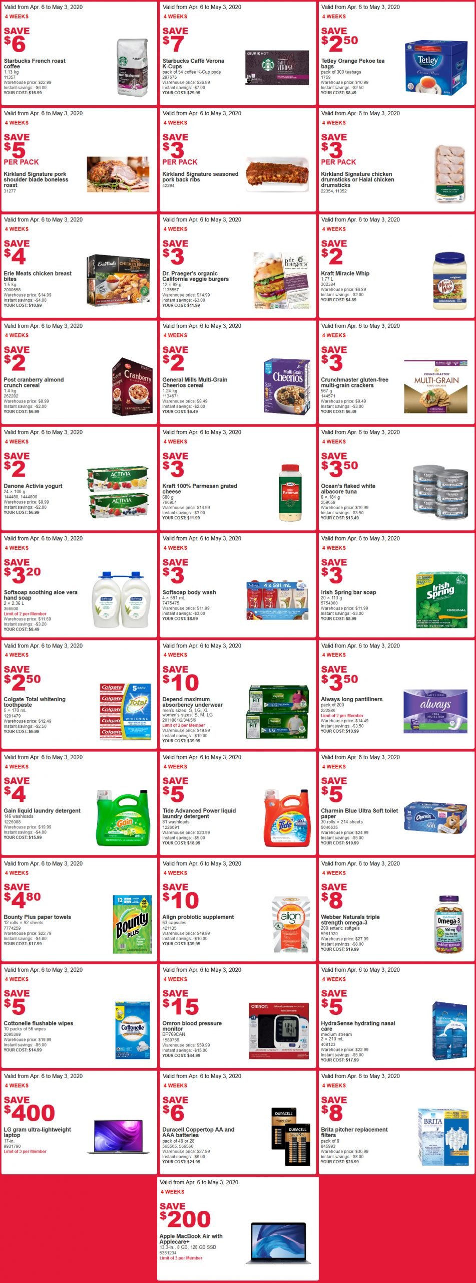 Costco Flyer sales April 20th
