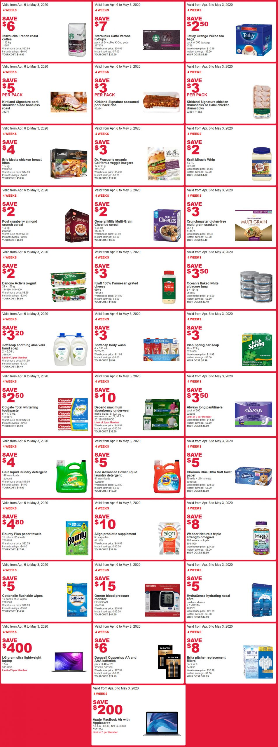 Costco flyer sales april 27th - May 3rd 2020