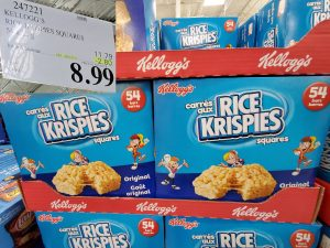 kellogg's rice crispy treats