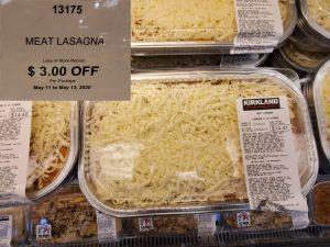 Costco meat lasagna