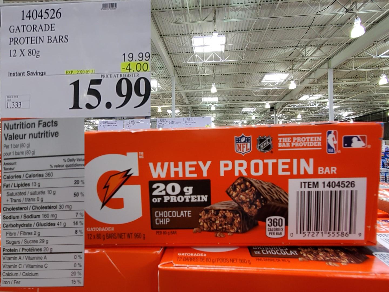 gatorade protein bar
