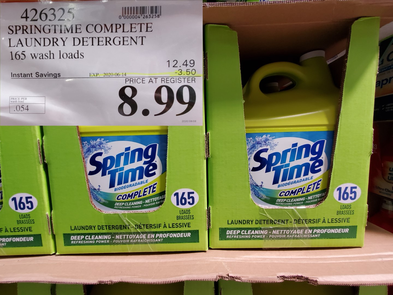 springtime laundry detergnt