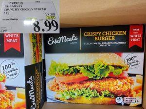 erie meats crispy chicken burger