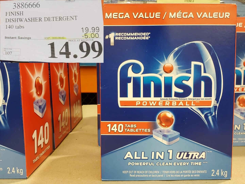 finish dish detergent