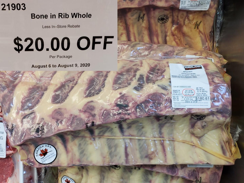 bone in rib whole