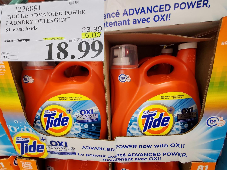tide laundry detergwnt