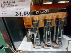 duracell LED flashlight 3pk