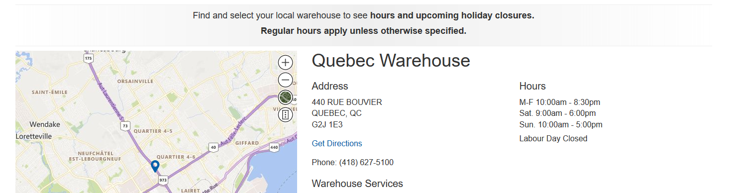 Quebec Costco holiday hours