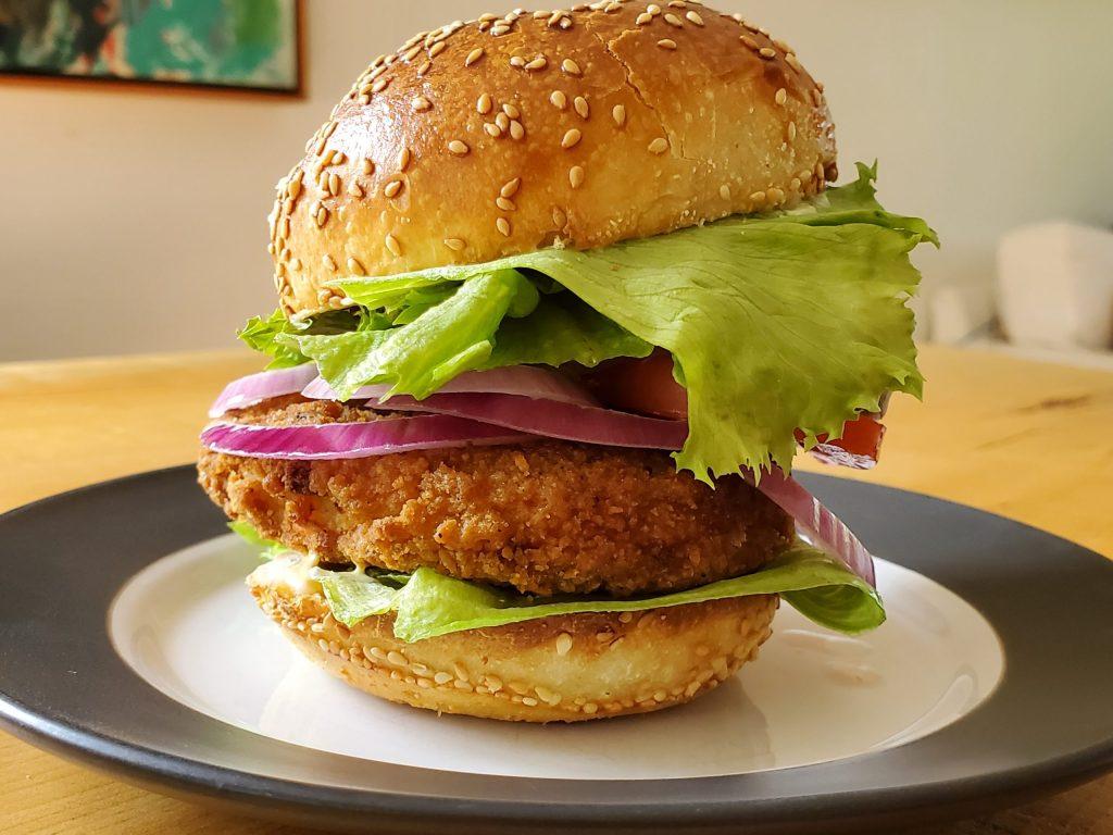 Erie meats crispy chicken breast