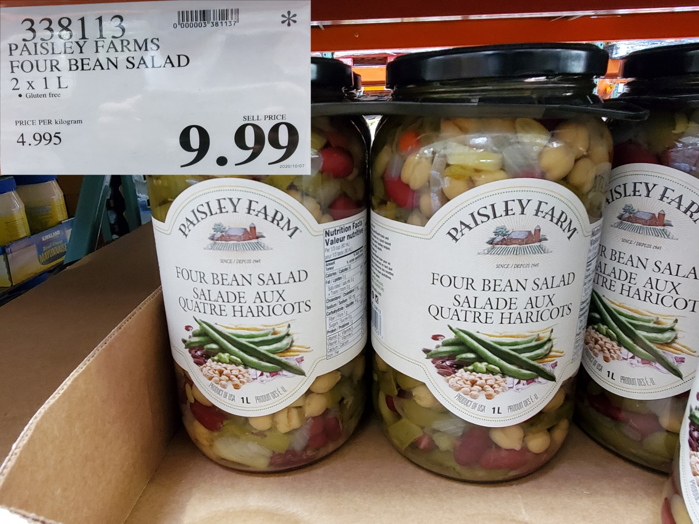 paisley farms bean salad