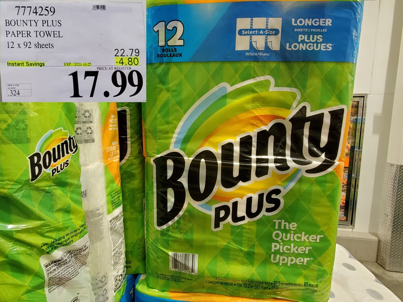 bounty plus paper towel