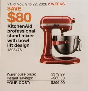 Kitchen-Aid professional stand mixer