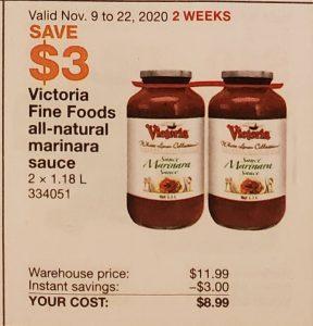 victoria fine foods all-natural marinara sauce