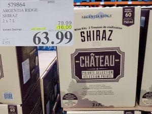 chateau shiraz wine kit