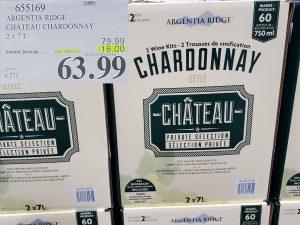 chateau chardonnay wine kit