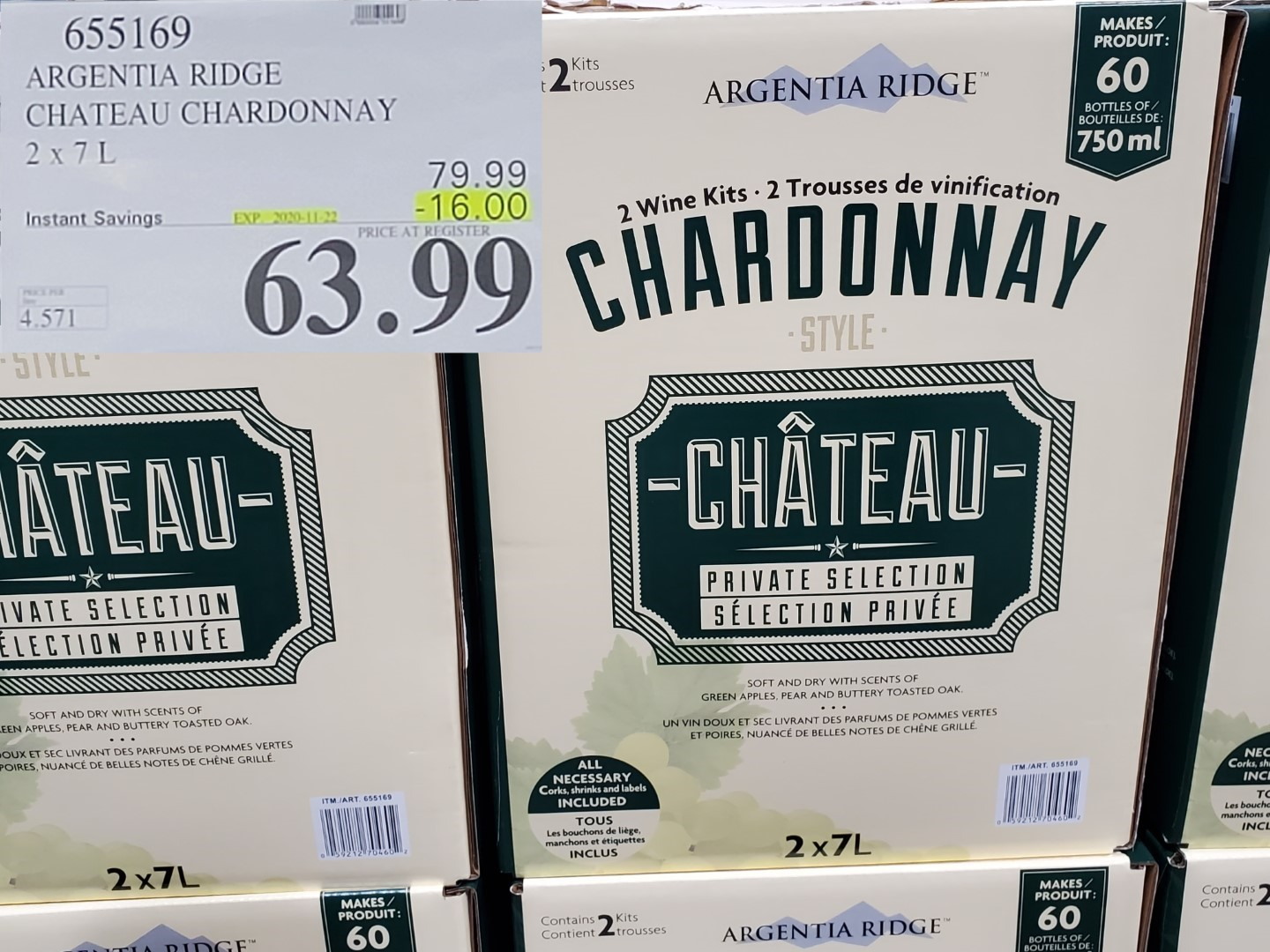 chateau chardonnay wine kit
