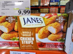 Jane's whole wheat chicken strips