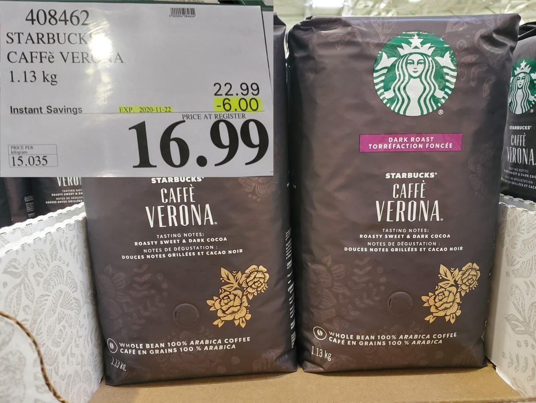 starbucks caffe verona whole bean coffee