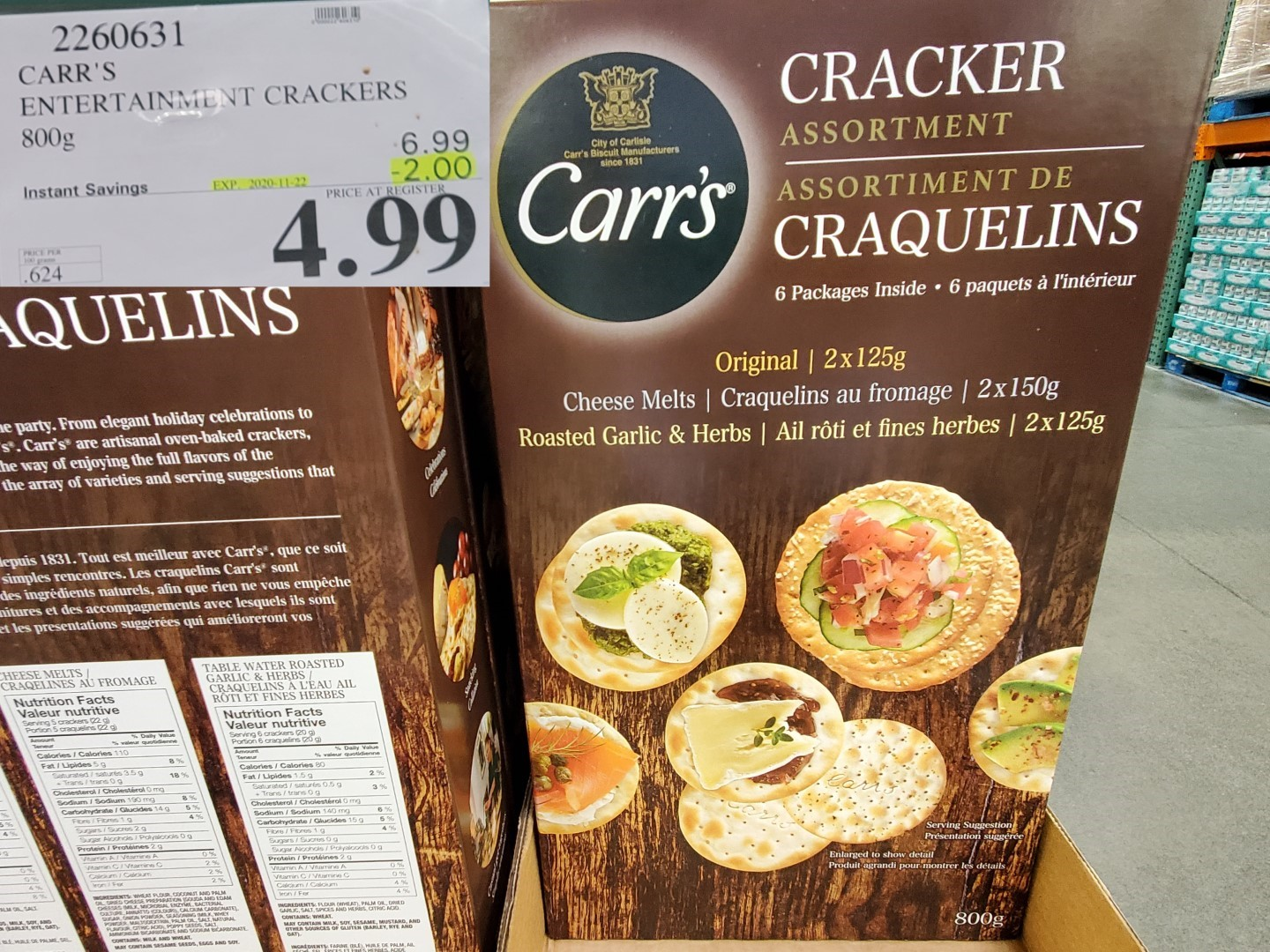 Carr's crackers