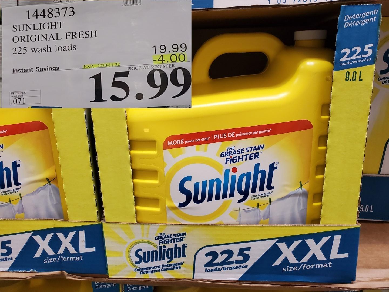 sunlight laundry detergent