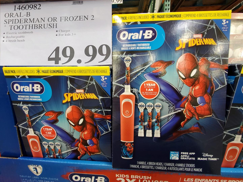 Oral-B spiderman toothbrush