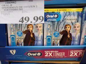 Oral-B frozen toothbrush