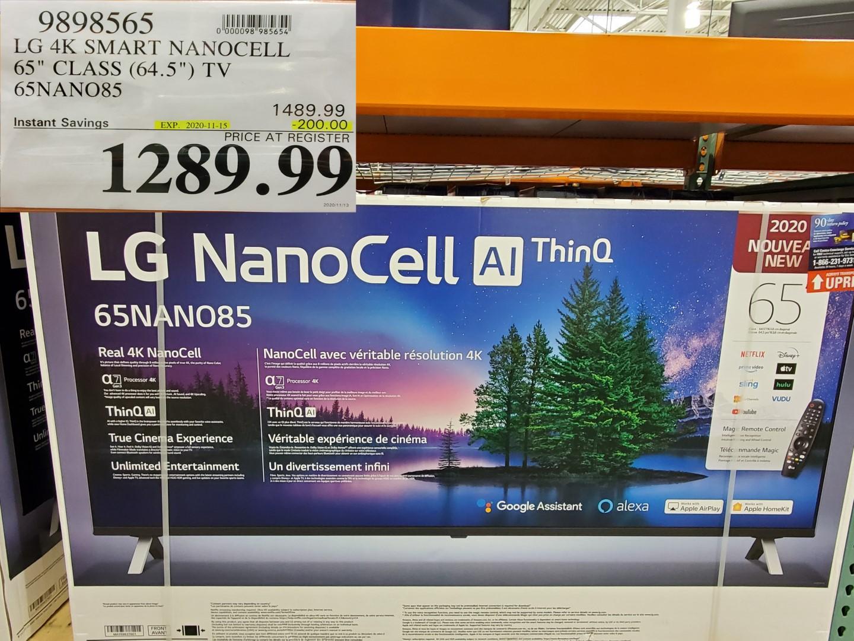 LG nanocell AI thinq TV