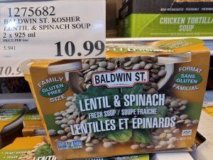 baldwin st. lentil & spinach soup