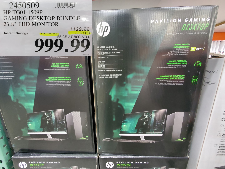 HP gaming desktop computer