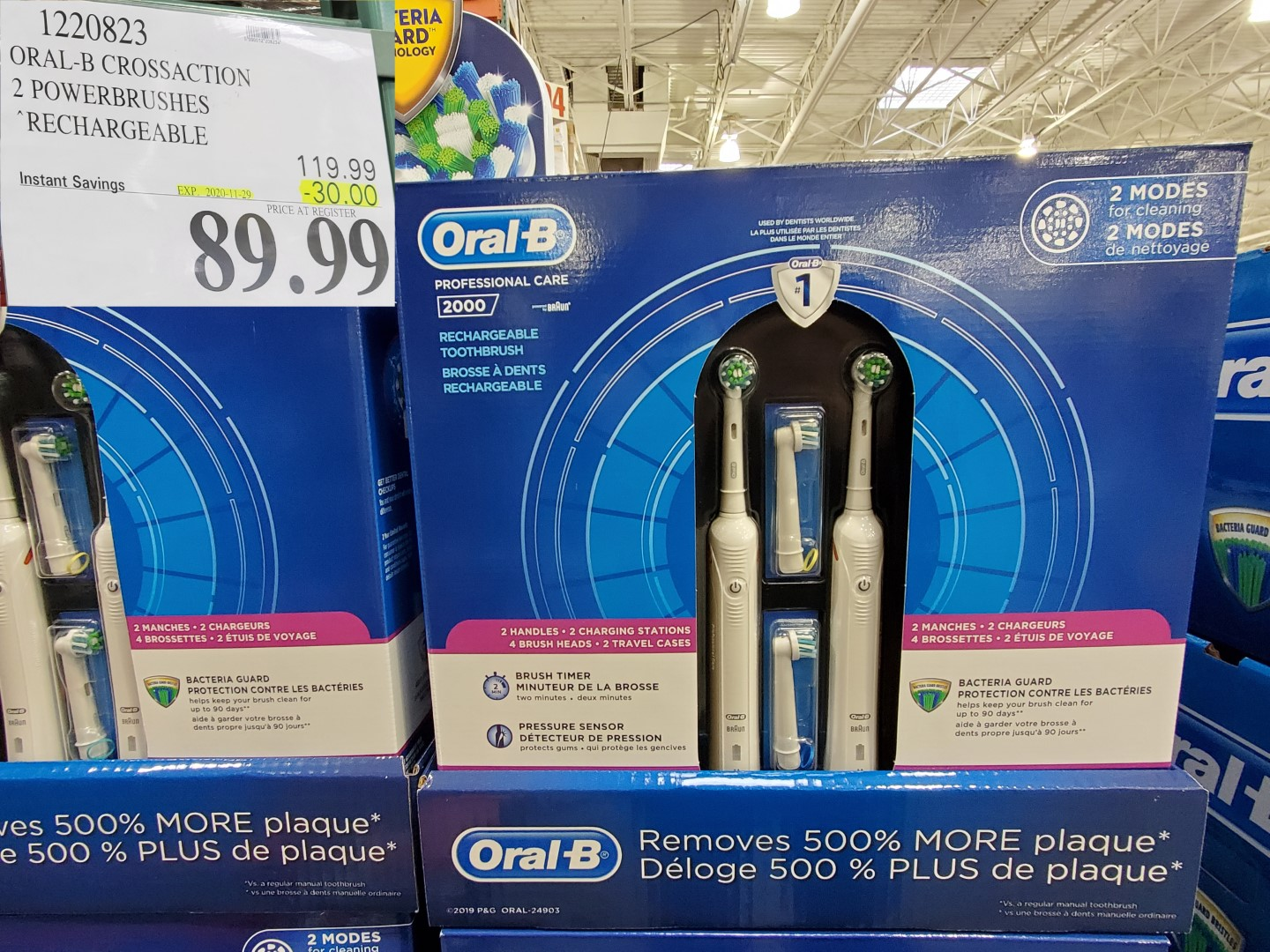 Oral-B crossaction dual brushes