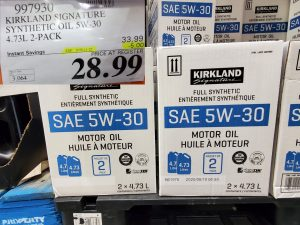 kirkland signature synthetic oil