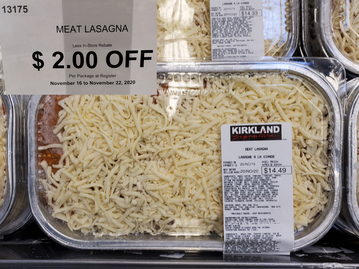 Costco meat lasagna