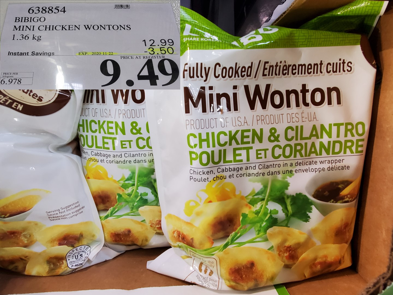 Bibigo chicken & cilantro wantons
