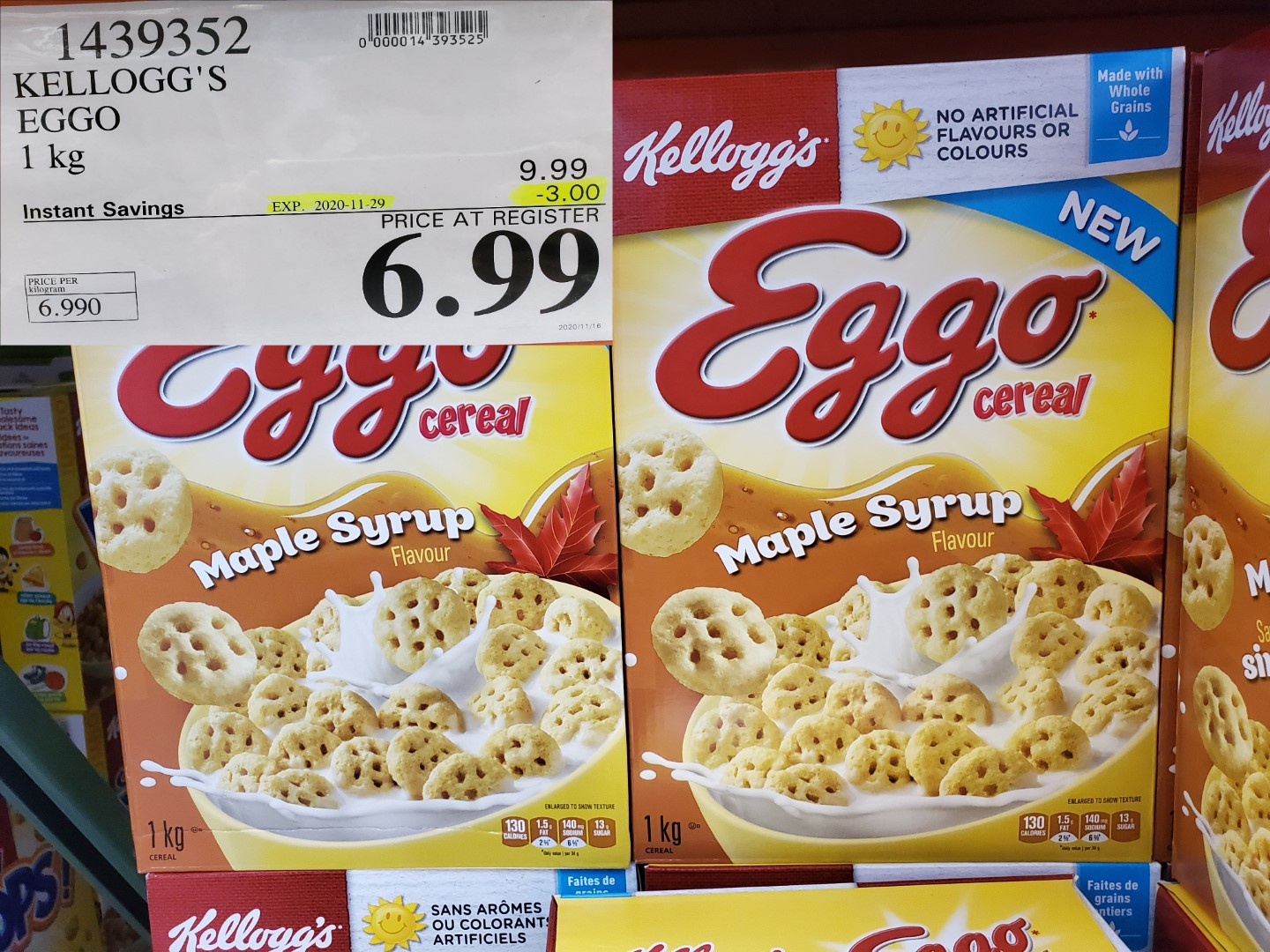 kellogg's eggo maple cereal