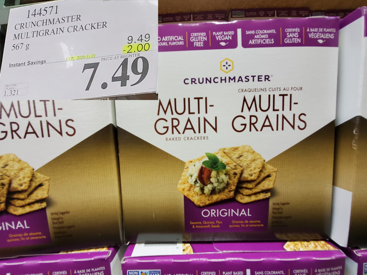 cruchmaster multi-grain crackers