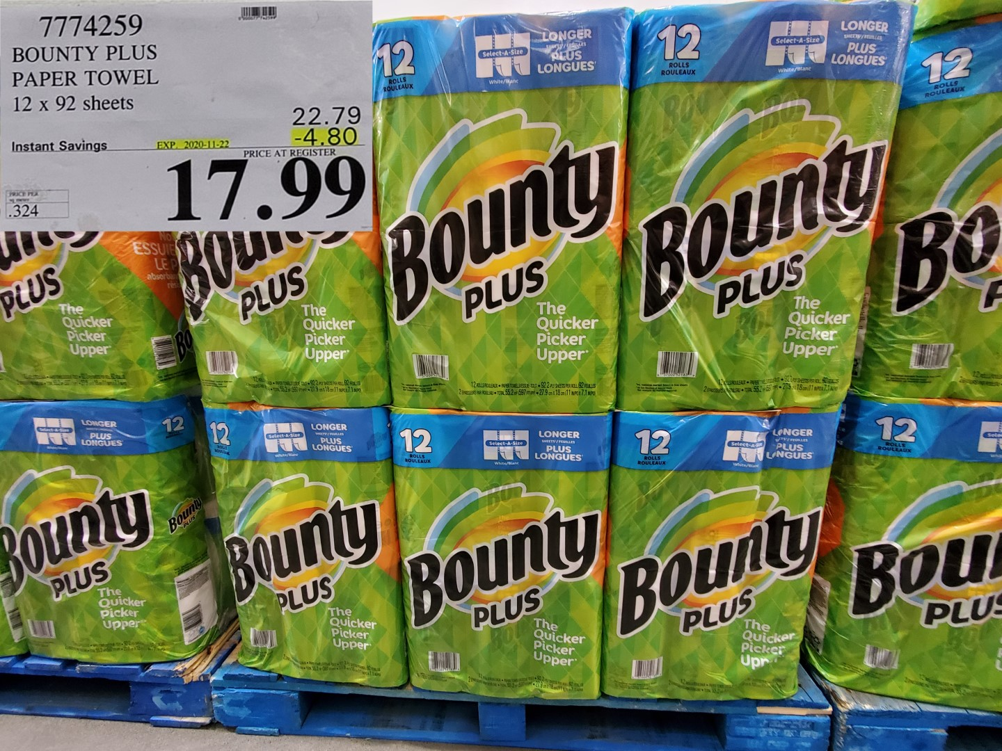 bounty plus paper towel