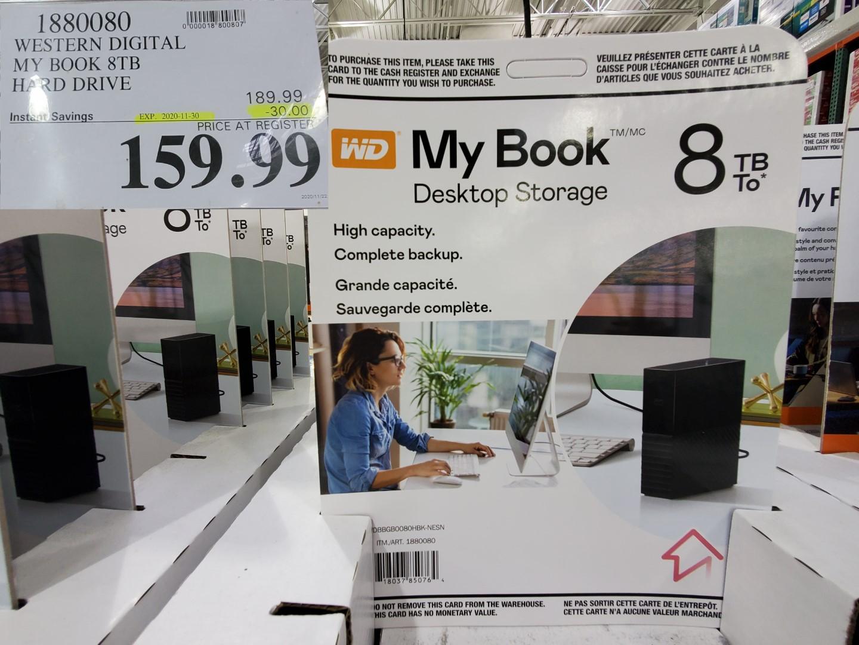 My book 8TB hard drive