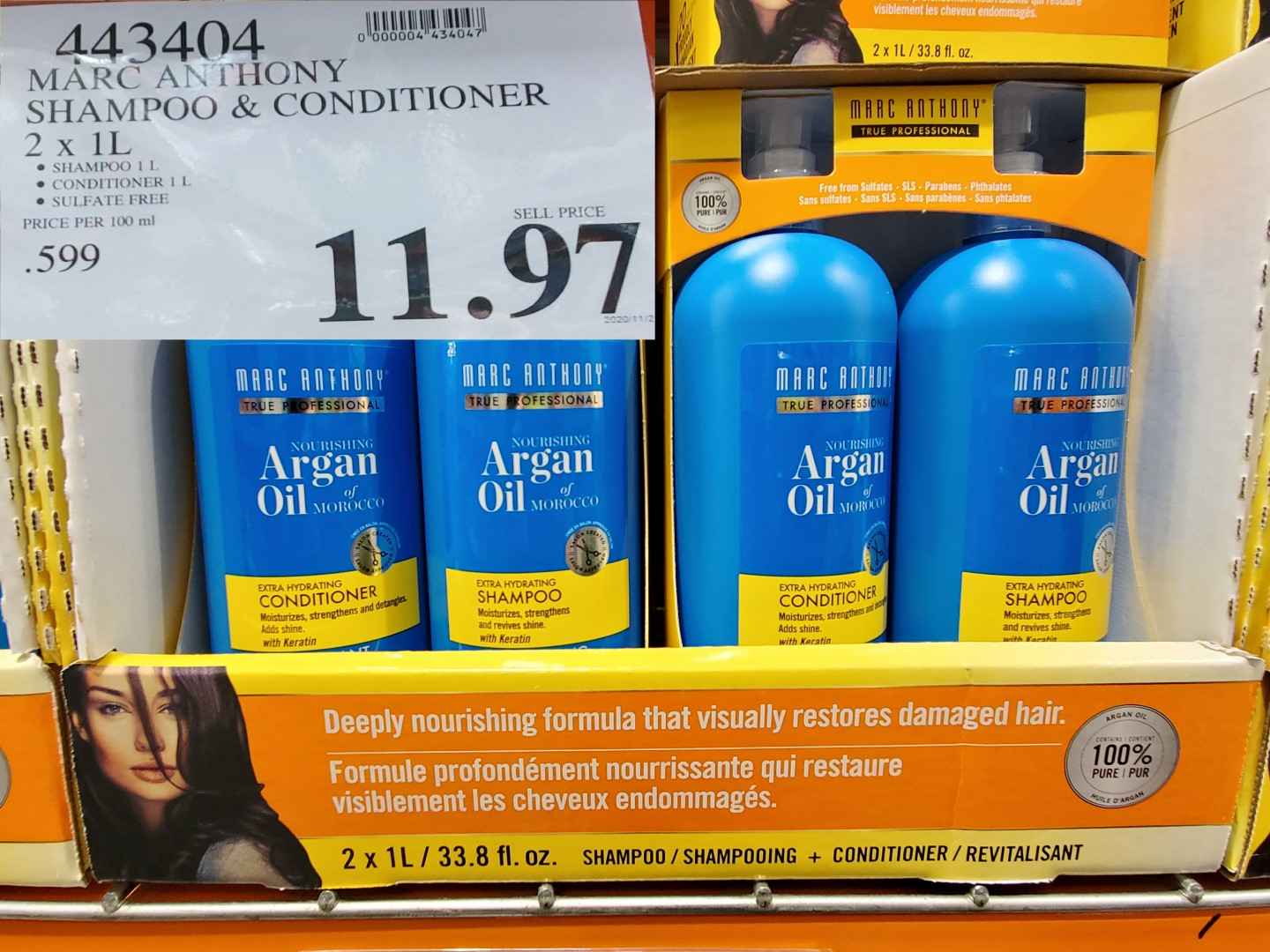 marc anthony shampoo and conditioner