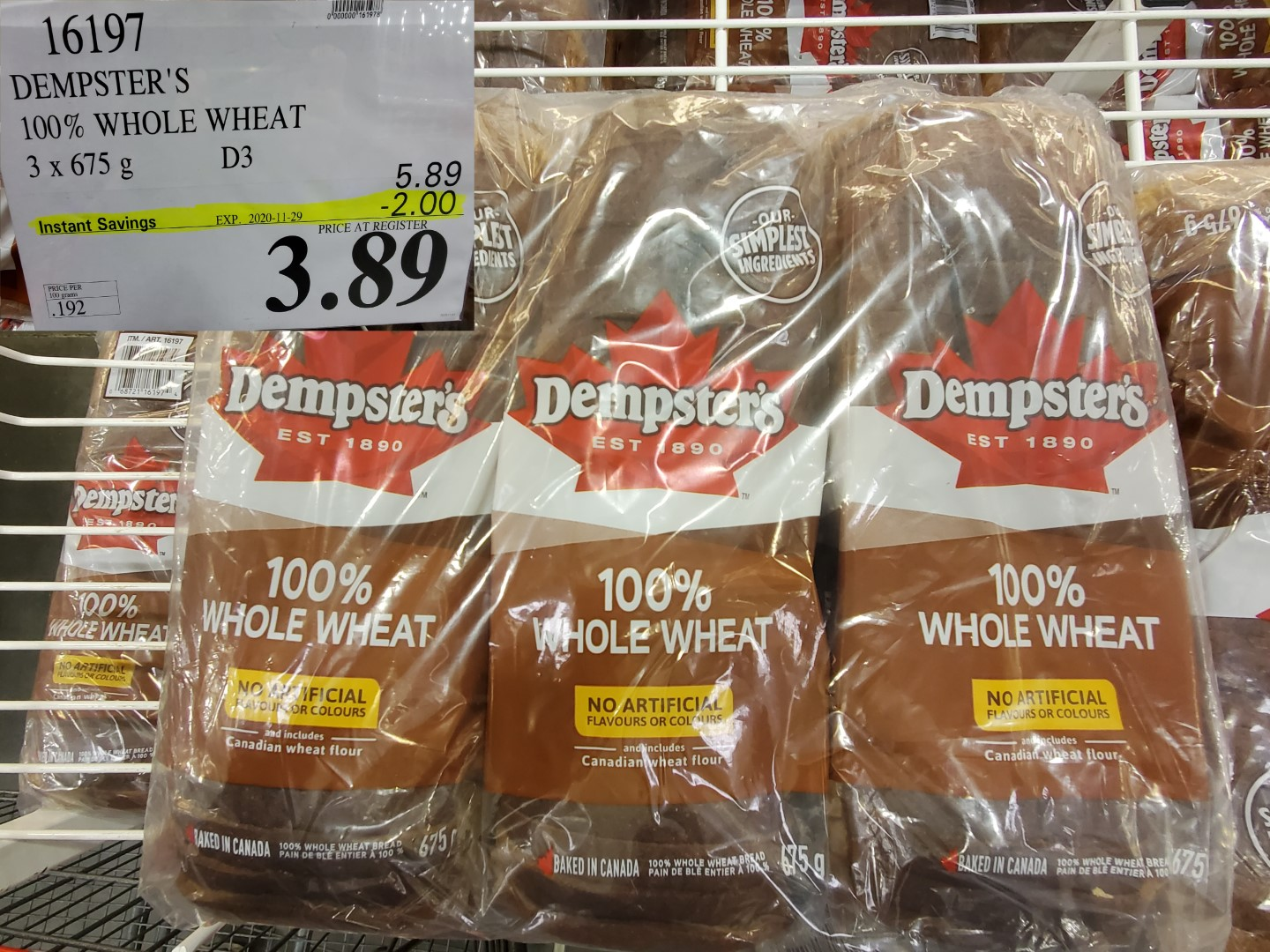Dempsters whole wheat bread