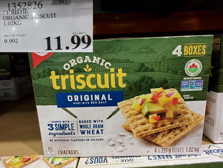 christie organic triscuit