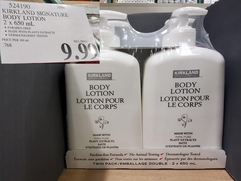kirkland signature body lotion